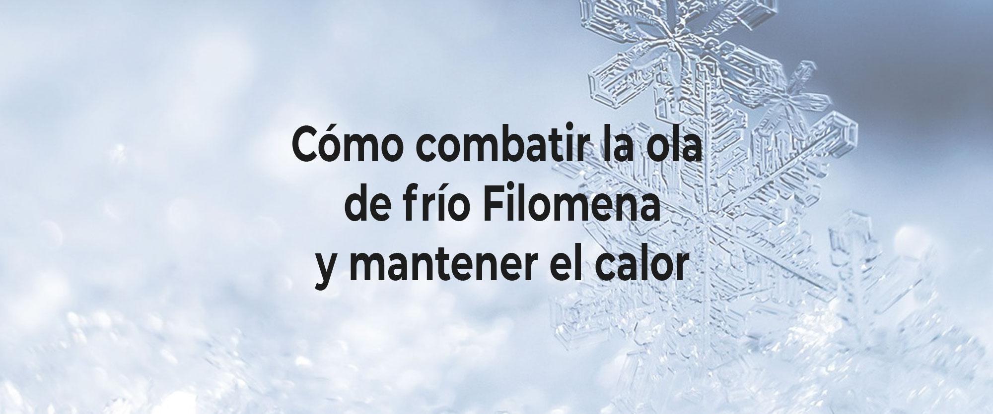 Cómo combatir la ola de frío Filomena y mantener el calor frente al COVID